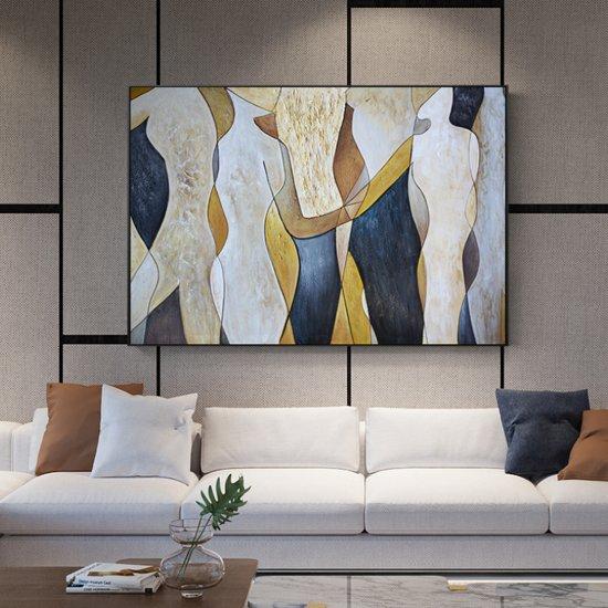 Foto Kunst Voor Aan De Muur.Canvas Schilderij Abstracte Mens Figuren Moderne Kunst Aan Je Muur Kleur 50 X 70 Cm