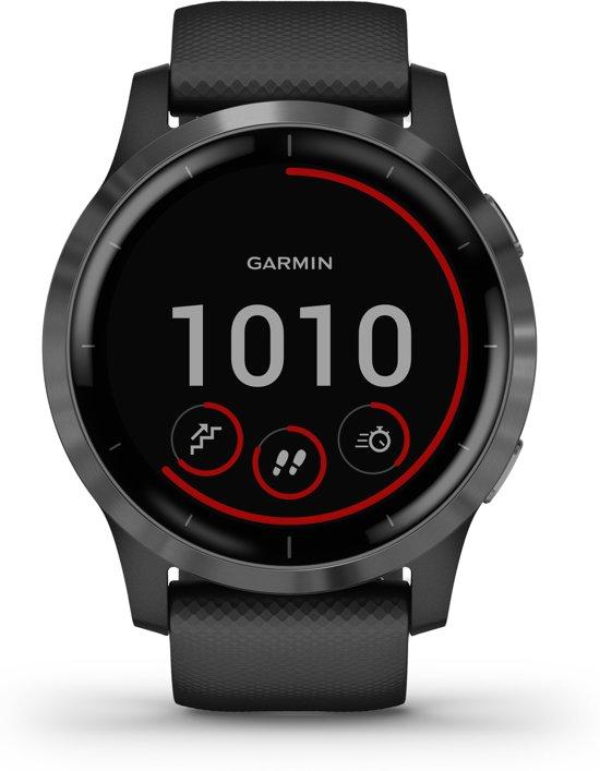 Garmin Vivoactive 4 - Smartwatch - zwart/leigrijs