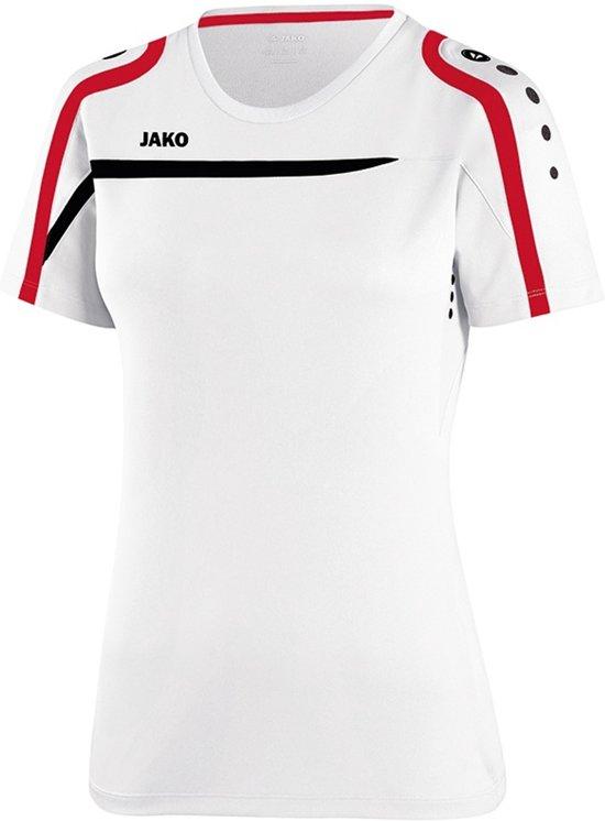 Jako - T-Shirt Performance Dames - wit/zwart/rood - Maat 34 - 36
