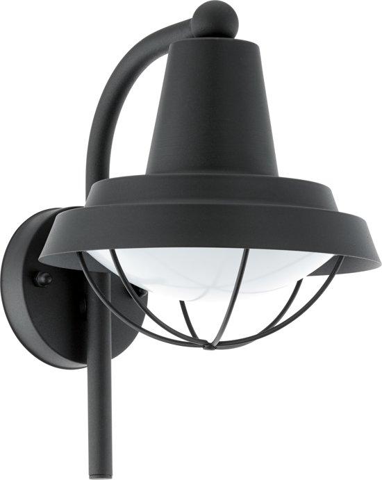 EGLO Vintage Colindres 1 - Buitenverlichting - Wandlamp - 1 Lichts - Zwart