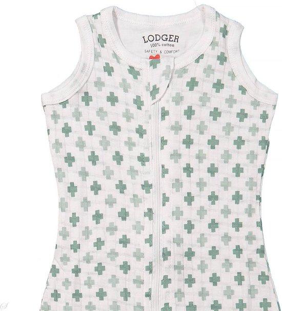Lodger Baby slaapzak - Hopper Solid - Groen - Mouwloos - 50/62