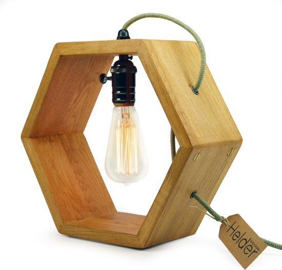 Houten lamp top hoge staande lamp ut van design lampen en for Design lamp hout
