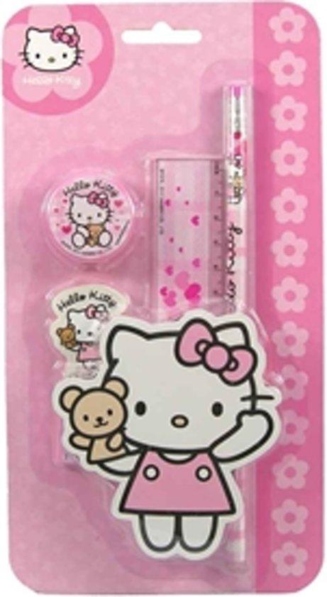 Hello Kitty Opbergrek.Hello Kitty 5 Delige Schoolset