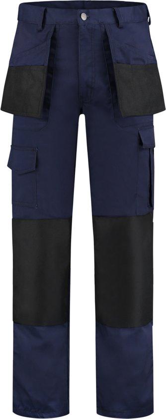 Yoworkwear Werkbroek Oxford polyester/katoen navy/zwart maat 62