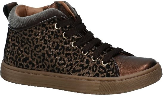 Bronzen Lage Geklede Sneakers met Luipaardprint Romagnoli