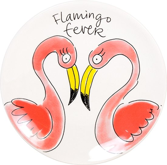 Blond Amsterdam - Paradise - Bord - Flamingo - Ø 18 cm