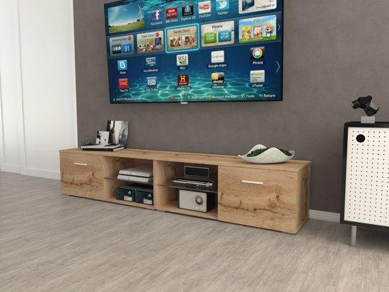 Az Home Tv Kast Tv Meubel Denver Xl 220 Cm Eiken
