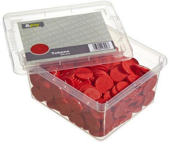 Gegraveerde Betaalmunten / Consumptiemunten - Rode Ster - 500 Jetons