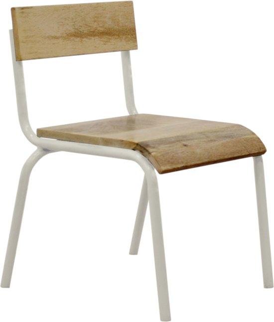 KIDSDEPOT ORIGINAL STOEL HOUT-METAL Wit (SET 2 STUKS)