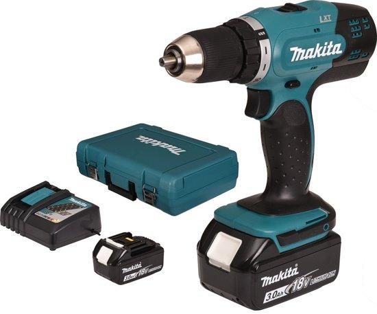 Makita boor-/schroefmachine - DDF453SFE - 18V - incl. 2 accu's en lader - in koffer