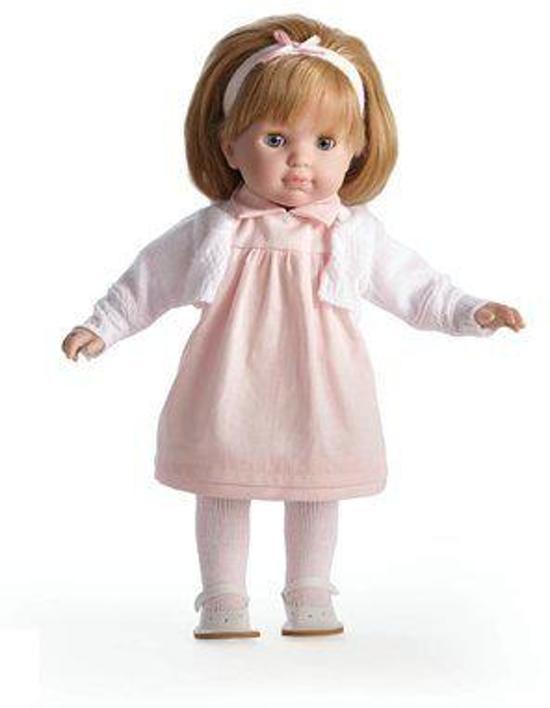 Berenguer Carla Blond Haar Roze Jurk
