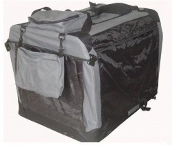Auto Bench reisBench nylon Bench - Antraciet 70x52x52cm - stoffen bench - vouwbench - softbench - honden 10-18kilo