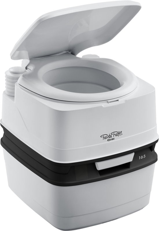 Alternatief Voor Chemisch Toilet.Thetford Porta Potti Qube 165 Mobiel Toilet Wit