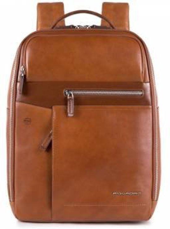 fbf83e459d9 bol.com   Cary 14'' Laptop Rugzak glad rundleer cognac