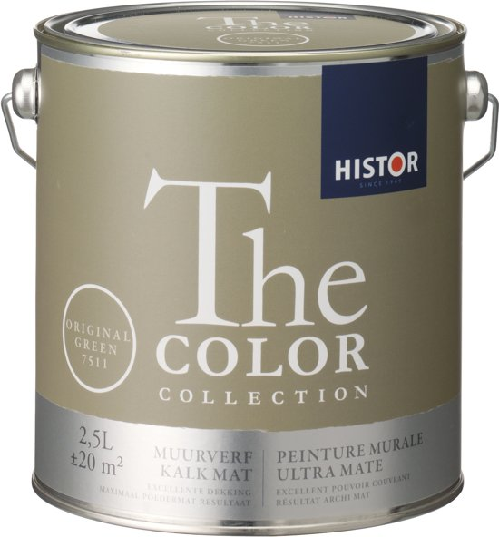 Fabulous bol.com | Histor The Color Collection Muurverf - 2,5 Liter  #HI71