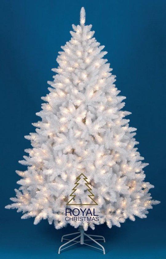 kunst kerstboom washington promo wit hoogte 240 cm met 400 warm led lampjes