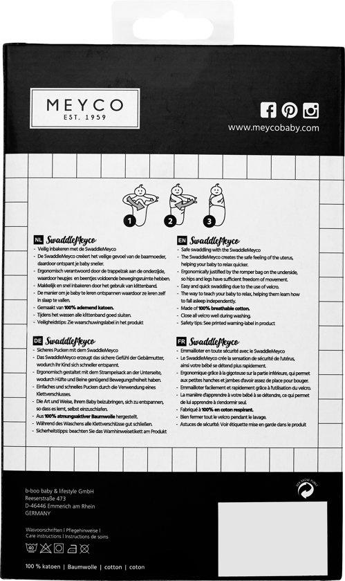 SwaddleMeyco Inbakerdoek - 4-6 maanden - Uni grijs