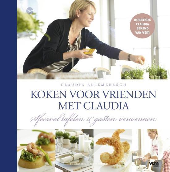 Cover van het boek 'Claudia kookt voor vrienden'
