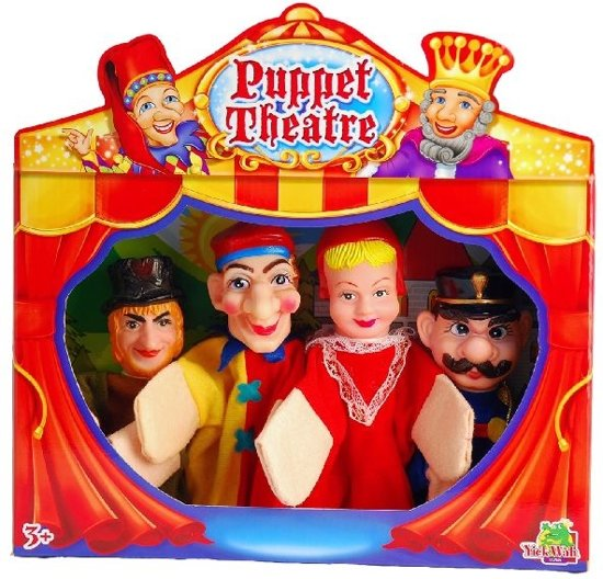 Hand Puppet- Handpoppen 4 stuks