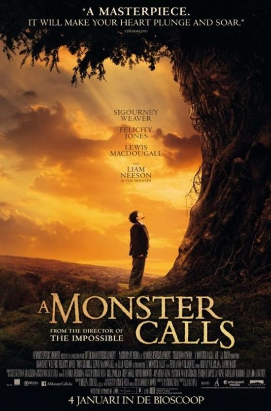 DVD cover van A Monster Calls (Blu-ray)