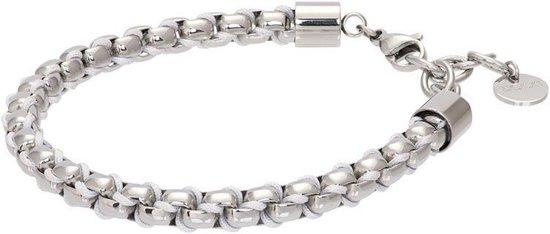 iXXXi Armband Ibiza white Zilverkleurig - maat 17-20