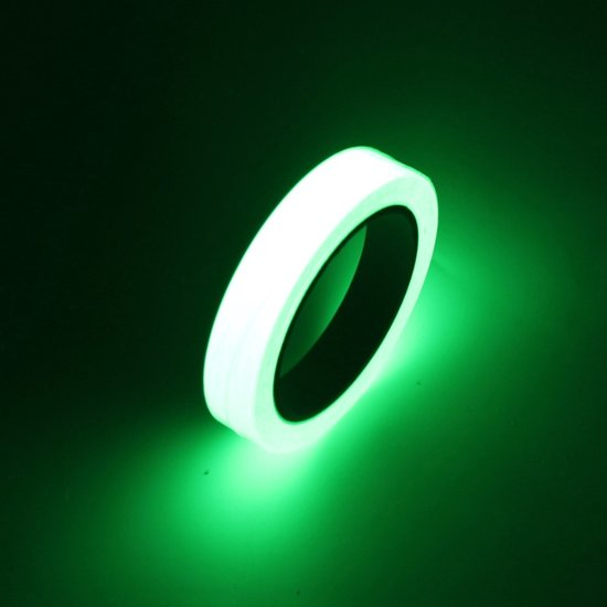 Lichtgevende Tape - Glow In The Dark Reflecterende Plakband - 10 Meter Wit / Groen