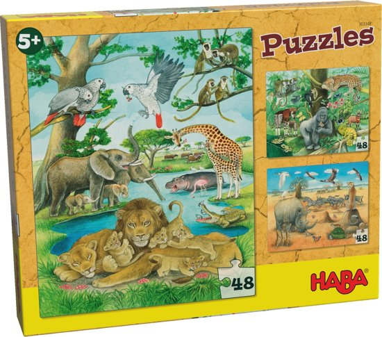 HABA Puzzels - Wilde dieren in Afrika
