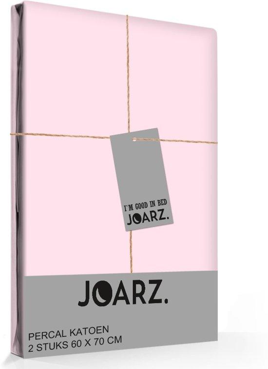 Joarz Pink Blush - 2 kussenslopen - Percale katoen - 60x70 cm - Roze