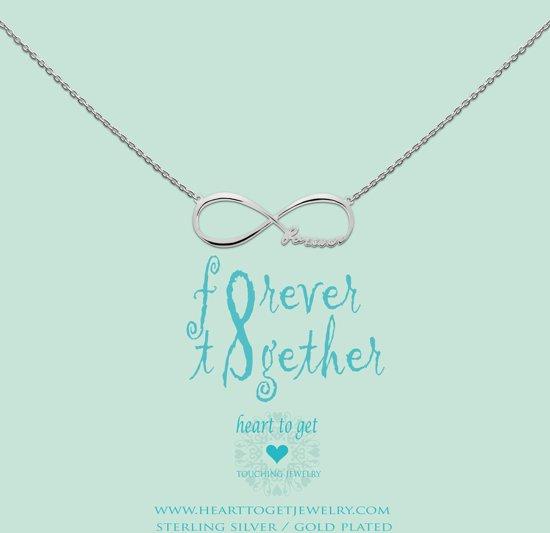 Heart to Get - Ketting met hanger - Zilver - Infinity
