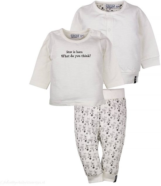 Leuke Unisex Babykleding.Bol Com Unisex Babykleding Setje So Fresh Star Is Born Off White