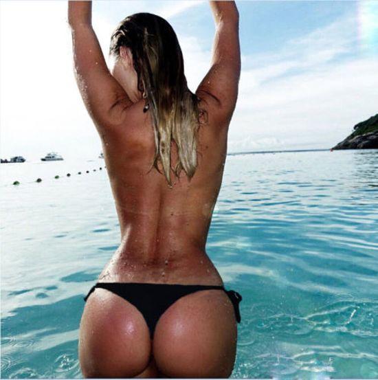 Bikini size String bikinibroekje casual dames zwart L lF1Jc3TK