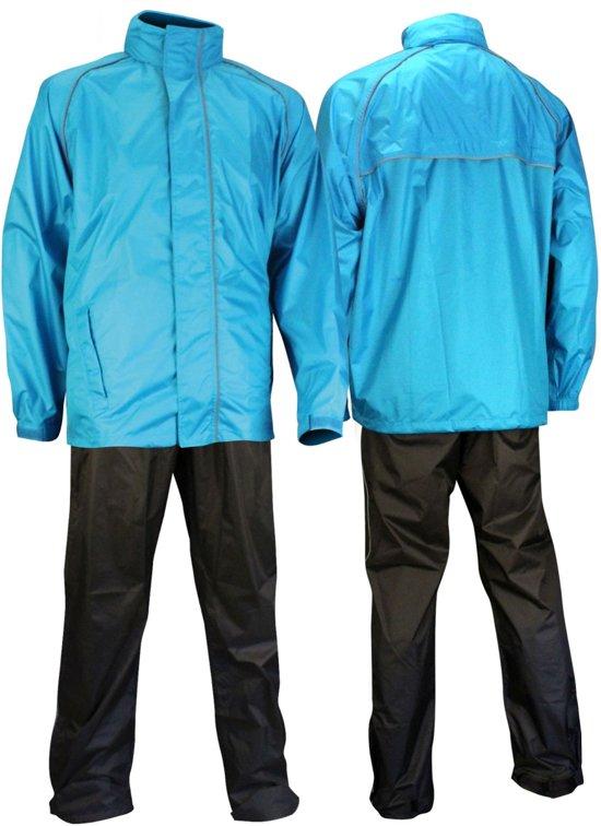 Ralka Comfort Regenpak - Volwassenen - Unisex - Maat L - Azuurblauw/Antraciet