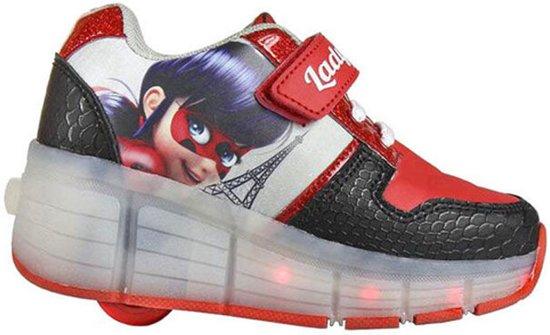 ladybug sneakersrolschoenen maat 35 schoenen met wieltjes en led verlichting