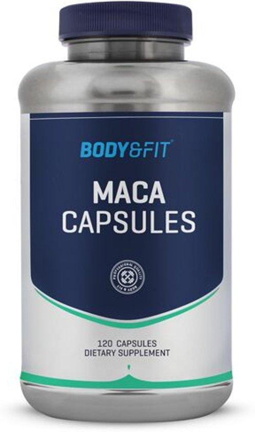 Body & Fit Maca Capsules - 500 mg per capsule - 180 capsules