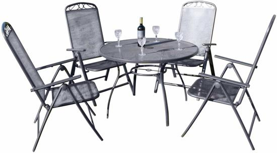 Tuinset Oxford Collection.Garden Market Place Oxford Tuinset Tafel Met 4 Stoelen Mesh