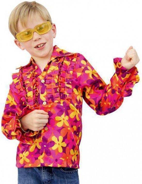 Hippie blouse met rouches voor kinderen 140