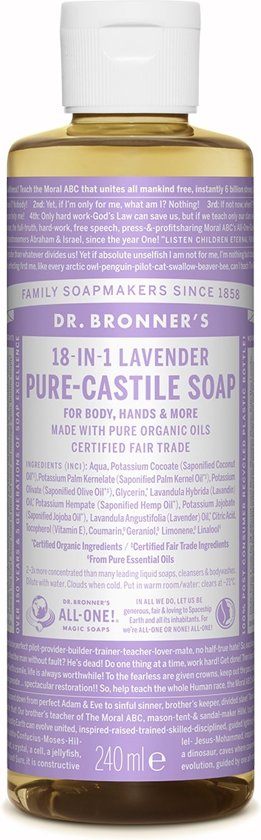 Dr. Bronner Liquid Soap Lavender - 236 ml - Douchegel