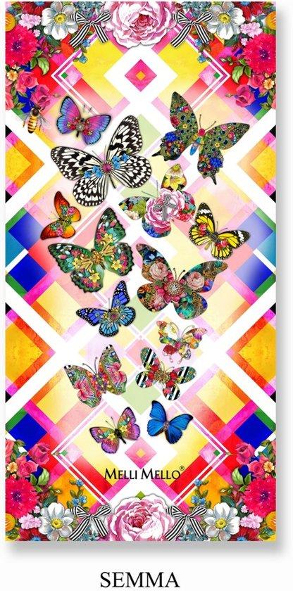 Melli Mello strandlaken Semma, met vlinders - 75 x 150 cm