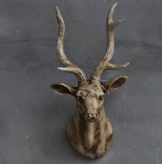 Hertenkop ivoor 17x13 5x33cm for Gewei kunststof