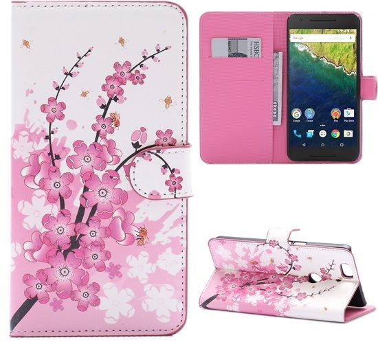 Huawei Nexus 6P Booktype Hoesje Roze Bloesem in Zuidwolde
