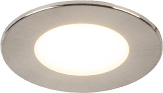 QAZQA simply sl - Inbouwspot - 1 lichts - Ø 82 mm - Staal