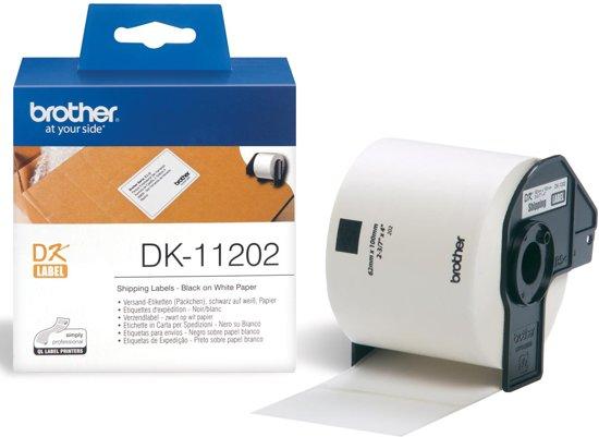 3x Brother etiketten voor QL, 62x100mm, pak a 300 etiketten