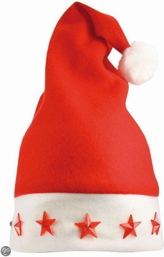 Benza Kerstmuts met verlichting, lampje