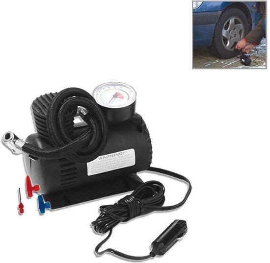 Mini - luchtcompressor 12V  - Compacte bandenpomp - Auto - Motor en Fietsbanden en Voetballen 12 volt