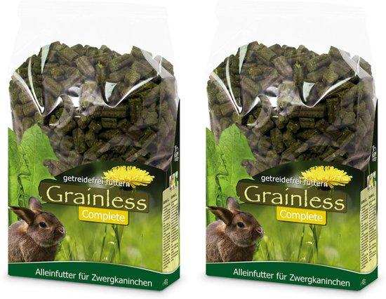 Dwergkonijnenvoer compleet 1350 gr per 2 verpakkingen