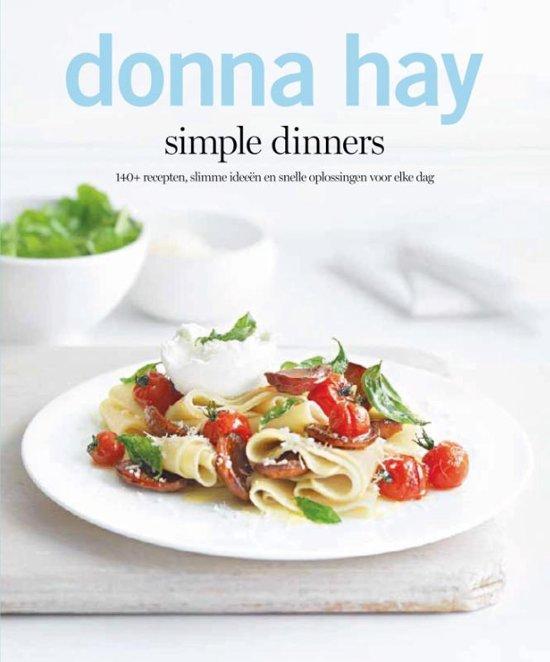 Boek cover Simple dinners van Donna Hay (Paperback)