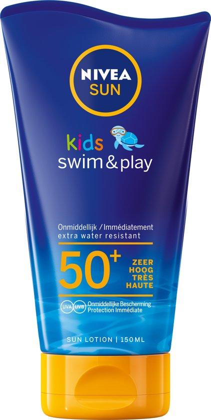 NIVEA SUN Kids Zonnecrème - Swim & Play Zonnemelk - SPF 50+ - 150 ml