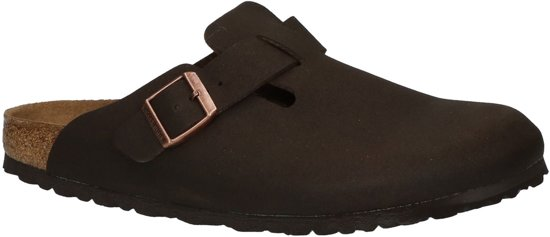 Birkenstock - Boston - Sportieve slippers - Heren - Maat 40 - Bruin - Cocoa Brown M