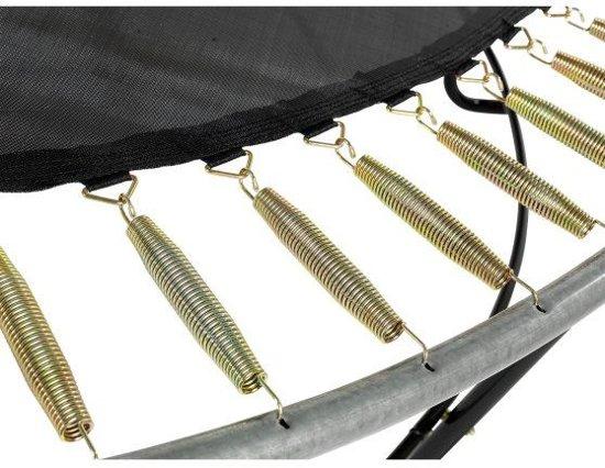 EXIT Elegant Premium trampoline ø427cm met veiligheidsnet Deluxe - paars