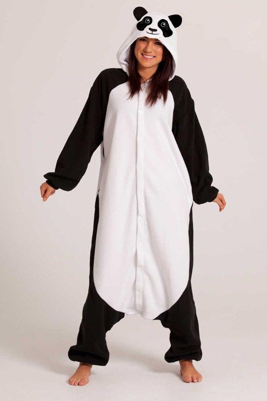 79307e6e8a6 KIMU Onesie panda pak reuzenpanda kostuum - maat XS-S - pandapak jumpsuit  huispak festival